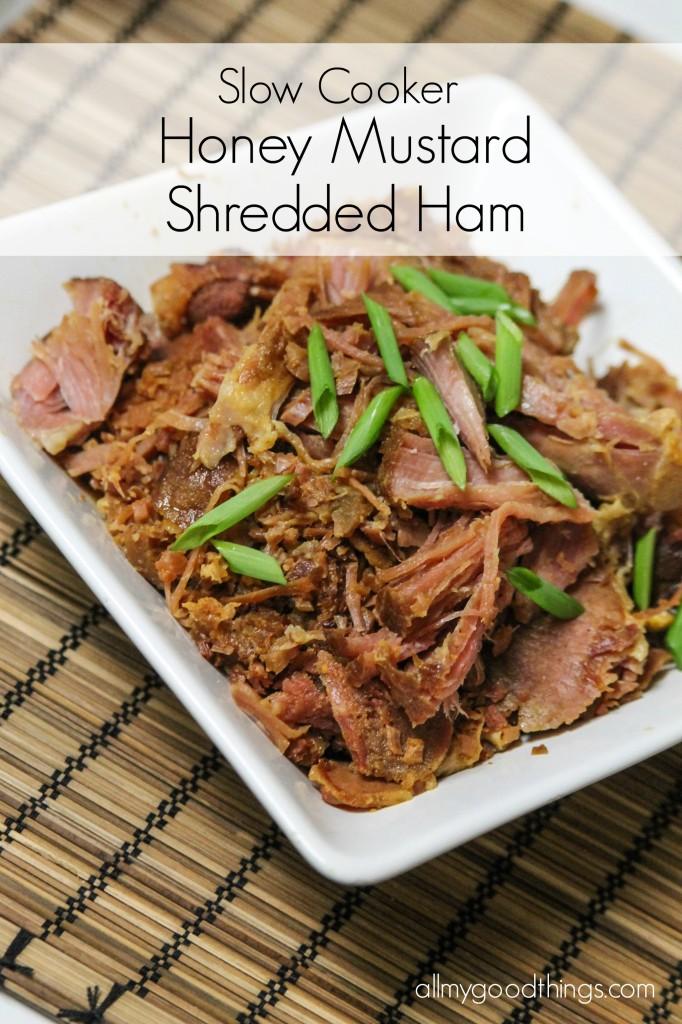 Slowcooker Honey Mustard Shredded Ham