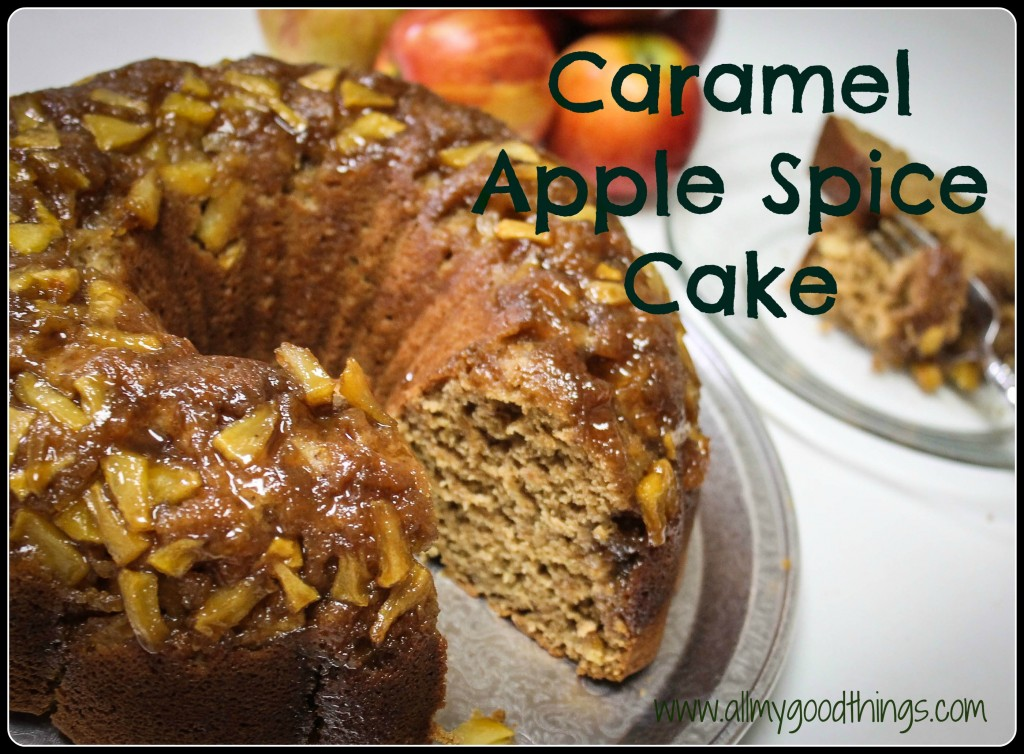 "Caramel Apple Spice Cake. Moist and flavorful. Tastes like you ordered it from a ""Coffee Shop"""