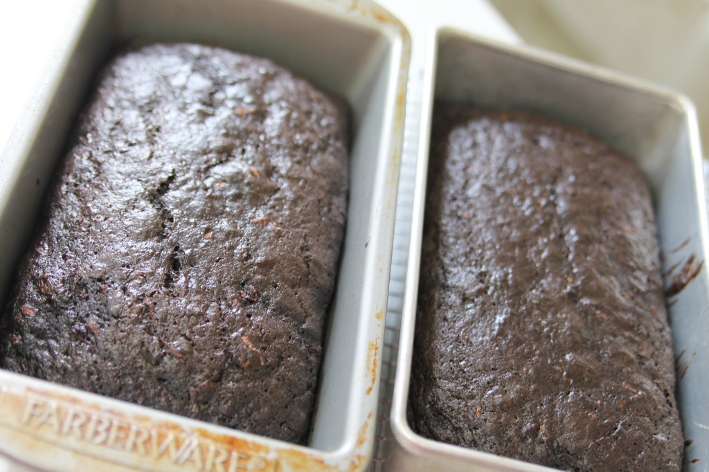 Dark Chocolate Zucchini Bread-1-2