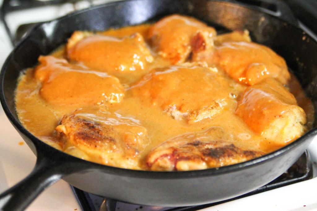 Honey BBQ Skillet Chicken-2