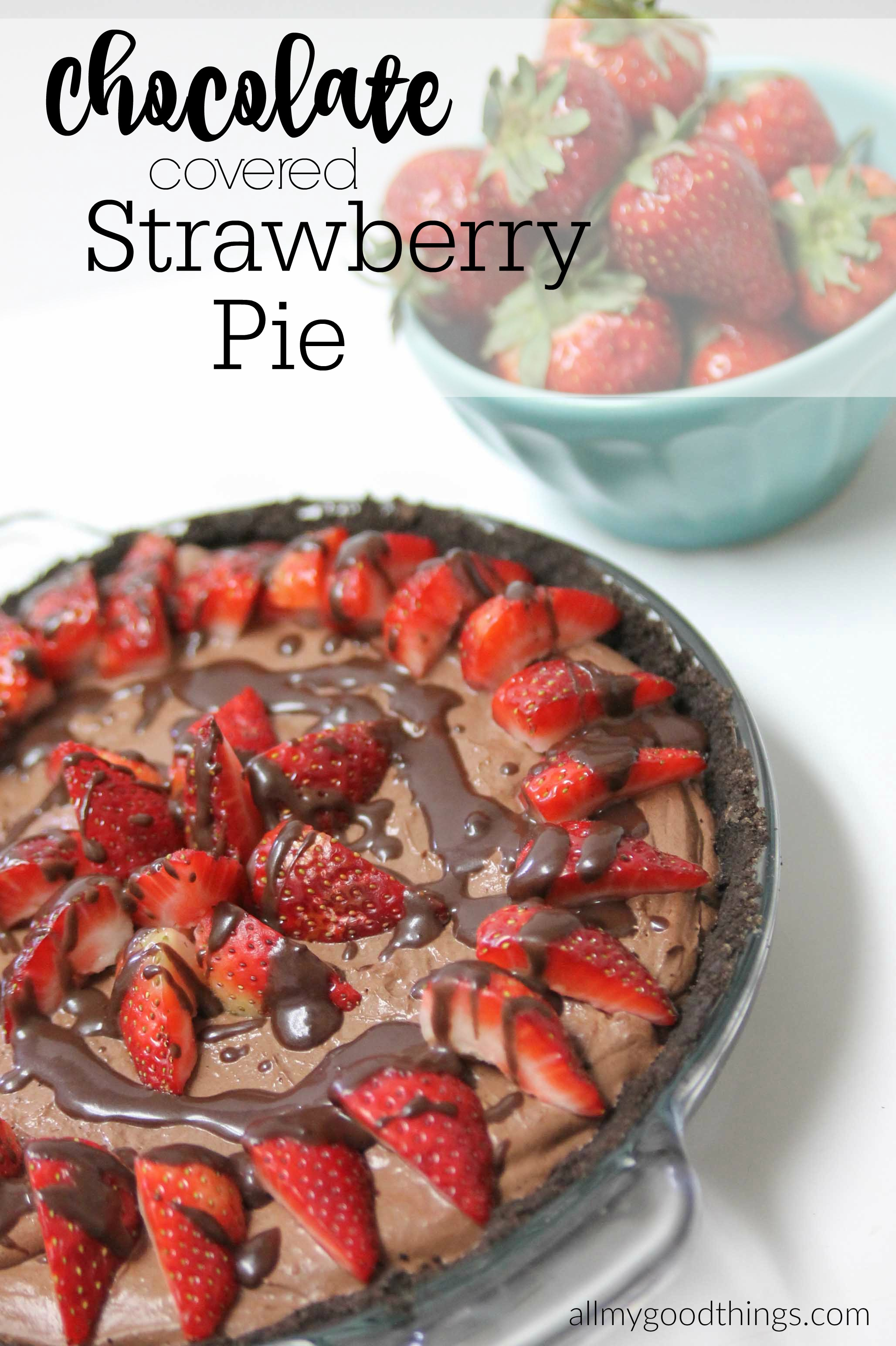 Strawberry Chocolate Pie