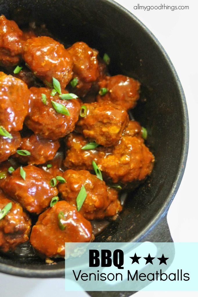 BBQ Venison Meatballs
