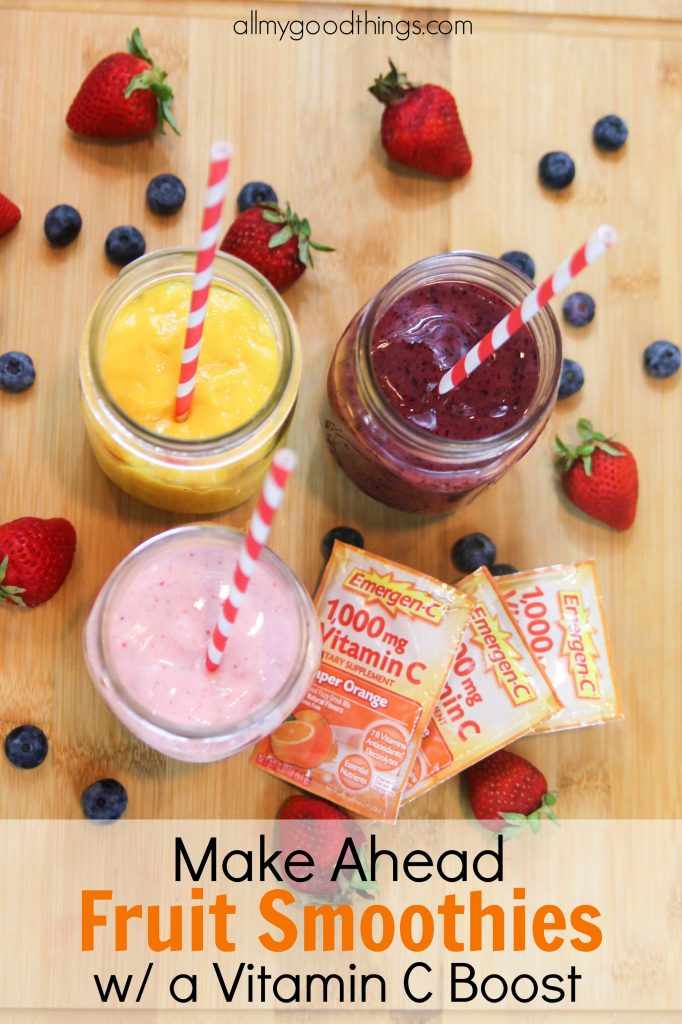 Make Ahead Fruit Smoothies with a Vitamin C Boost