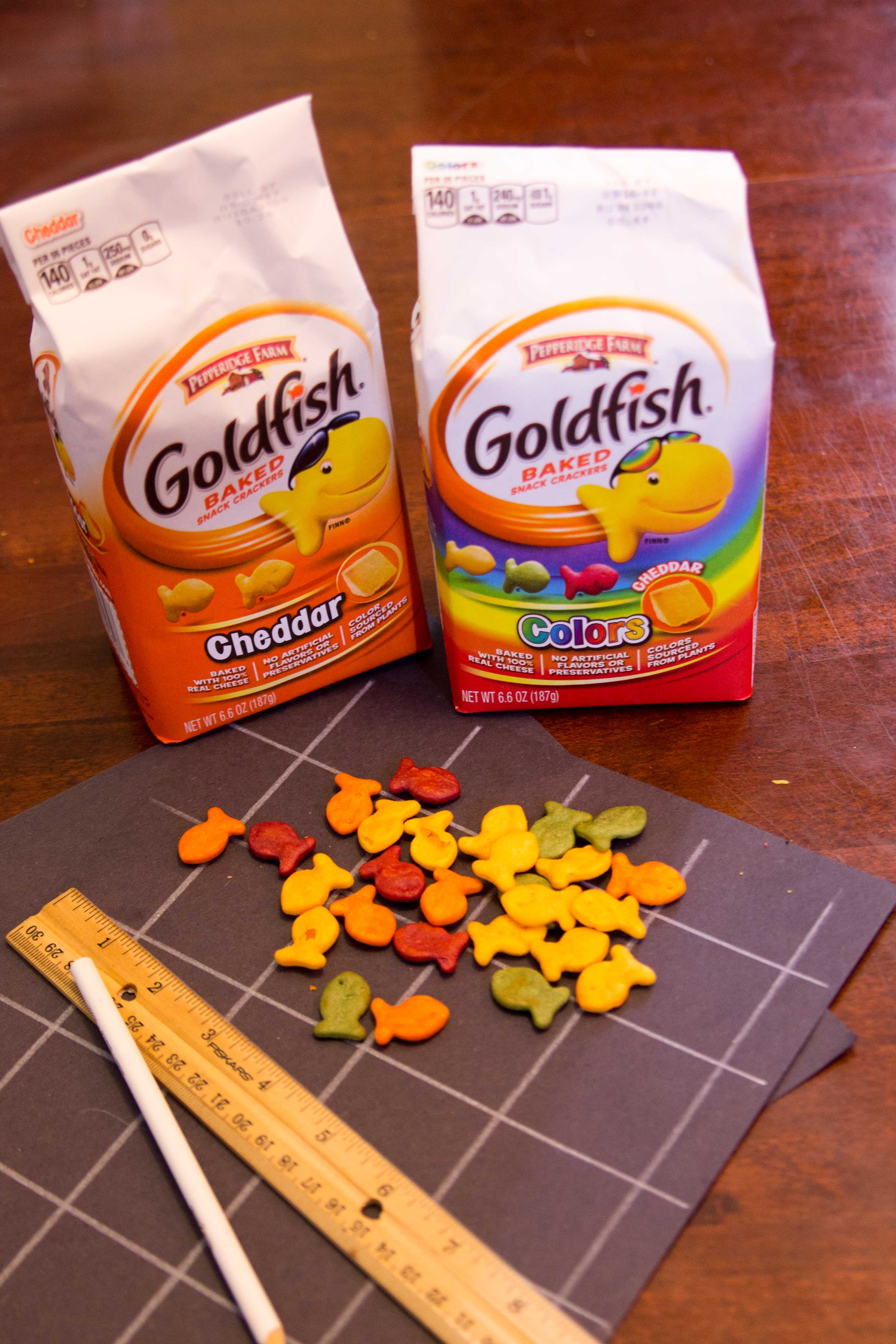 Four Indoor Activities with Goldfish, a Pencil, Paper & a Ruler