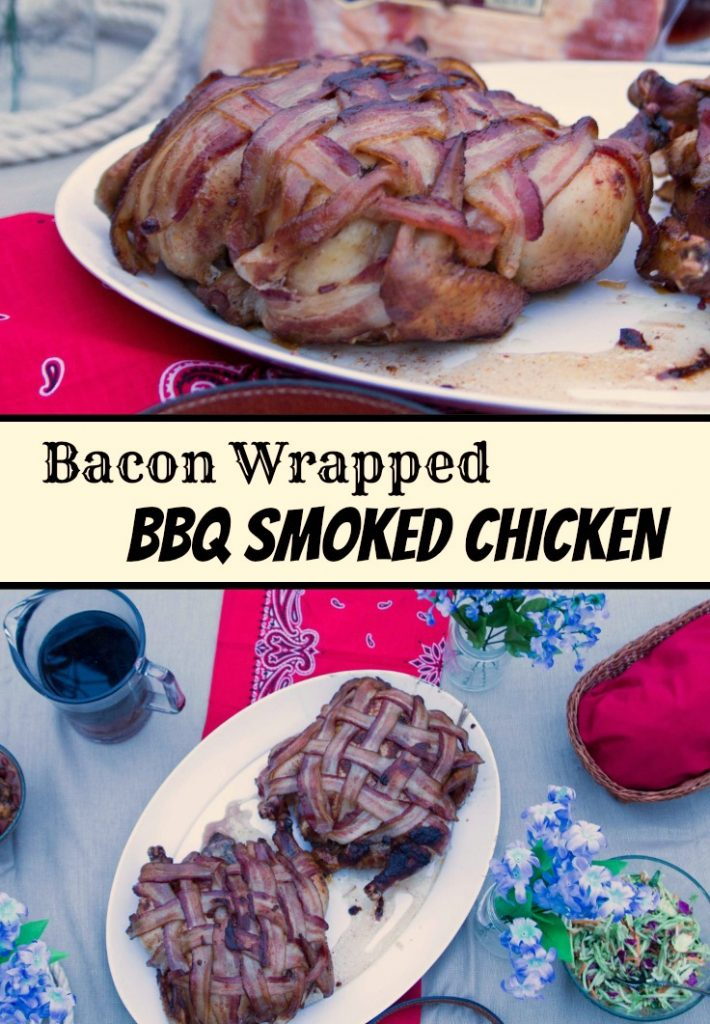 Bacon Wrapped BBQ Smoked Chicken-2
