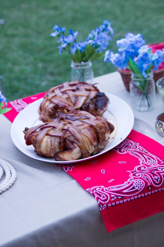 Bacon Wrapped Smoked Chicken-1