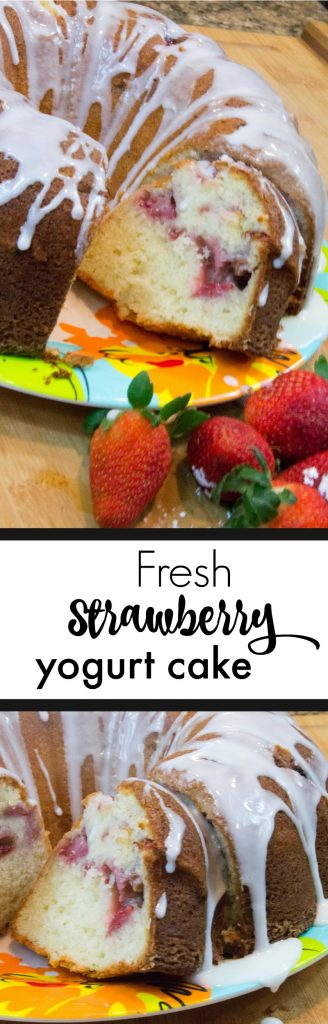 Easy and Delicious Fresh Strawberry Yogurt Cake