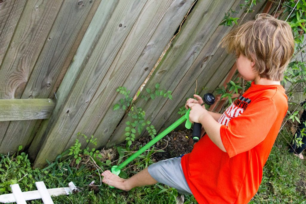 Teach your kids to garden with Weed Zinger