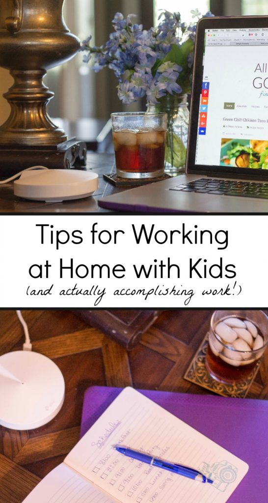 Tips for working at home with kids