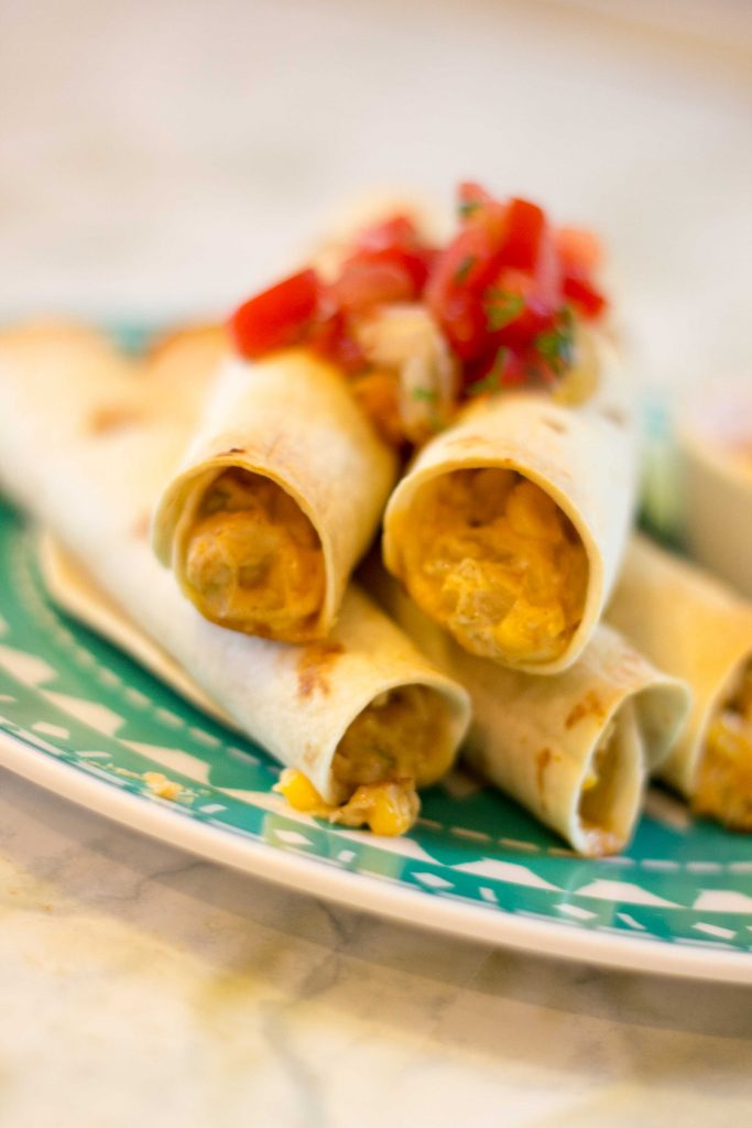 Easy Baked Chicken Taquitos-4