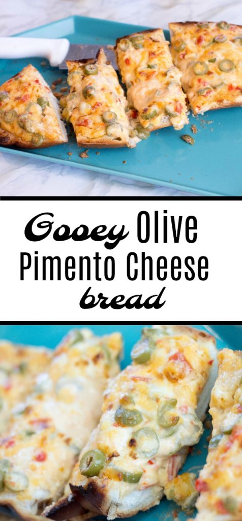 Gooey Olive Pimento Cheese Bread