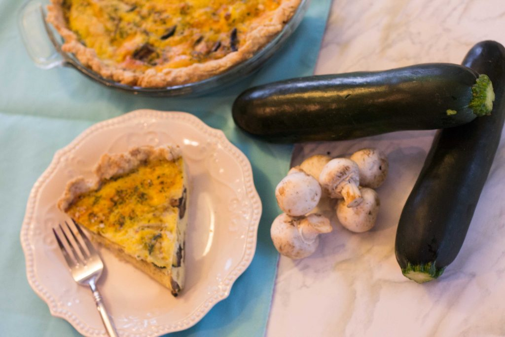 Zucchini Mushroom Quiche-1