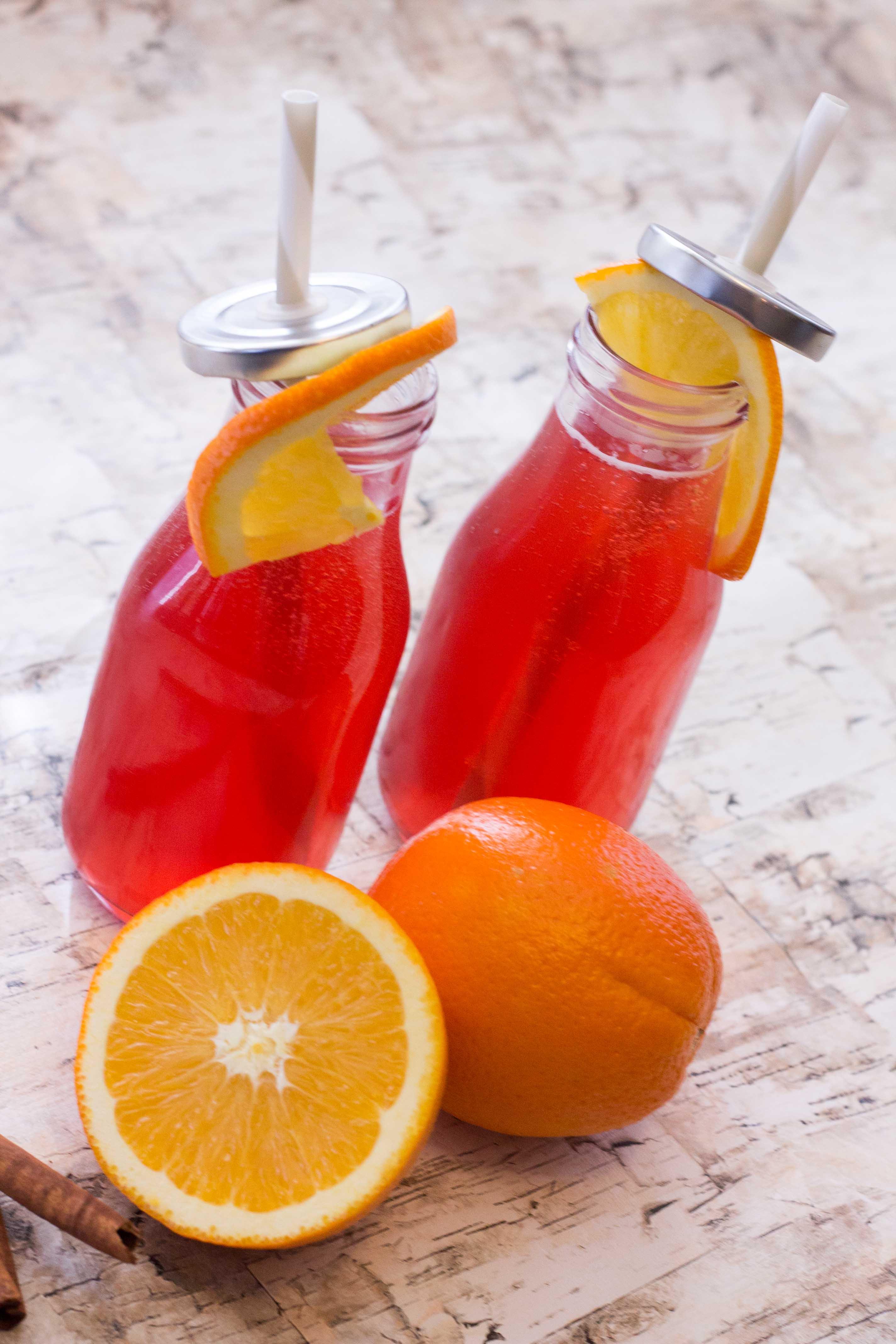 Holiday Spice Cranberry Orange Mocktail