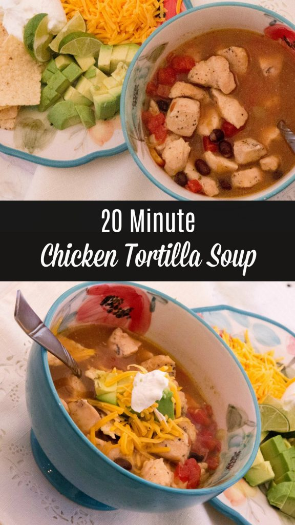 20 Minute Chicken Tortilla Soup