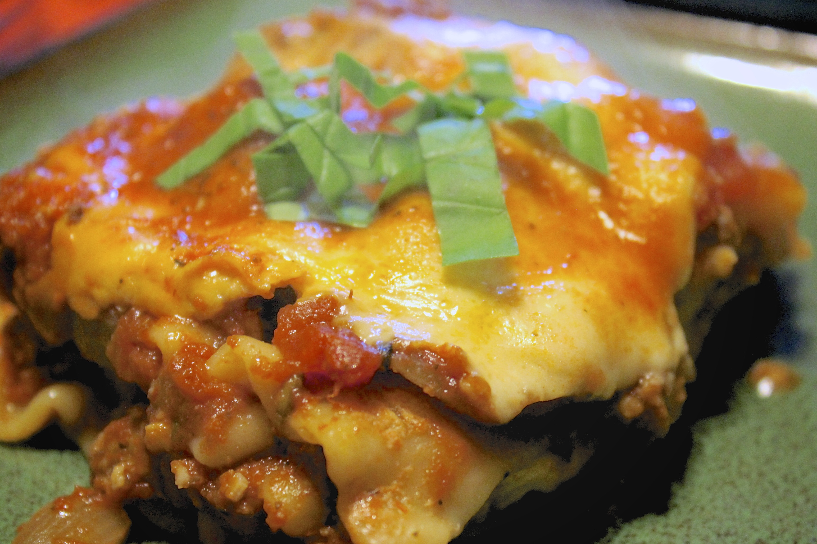 Three Cheese Mushroom Lasagna