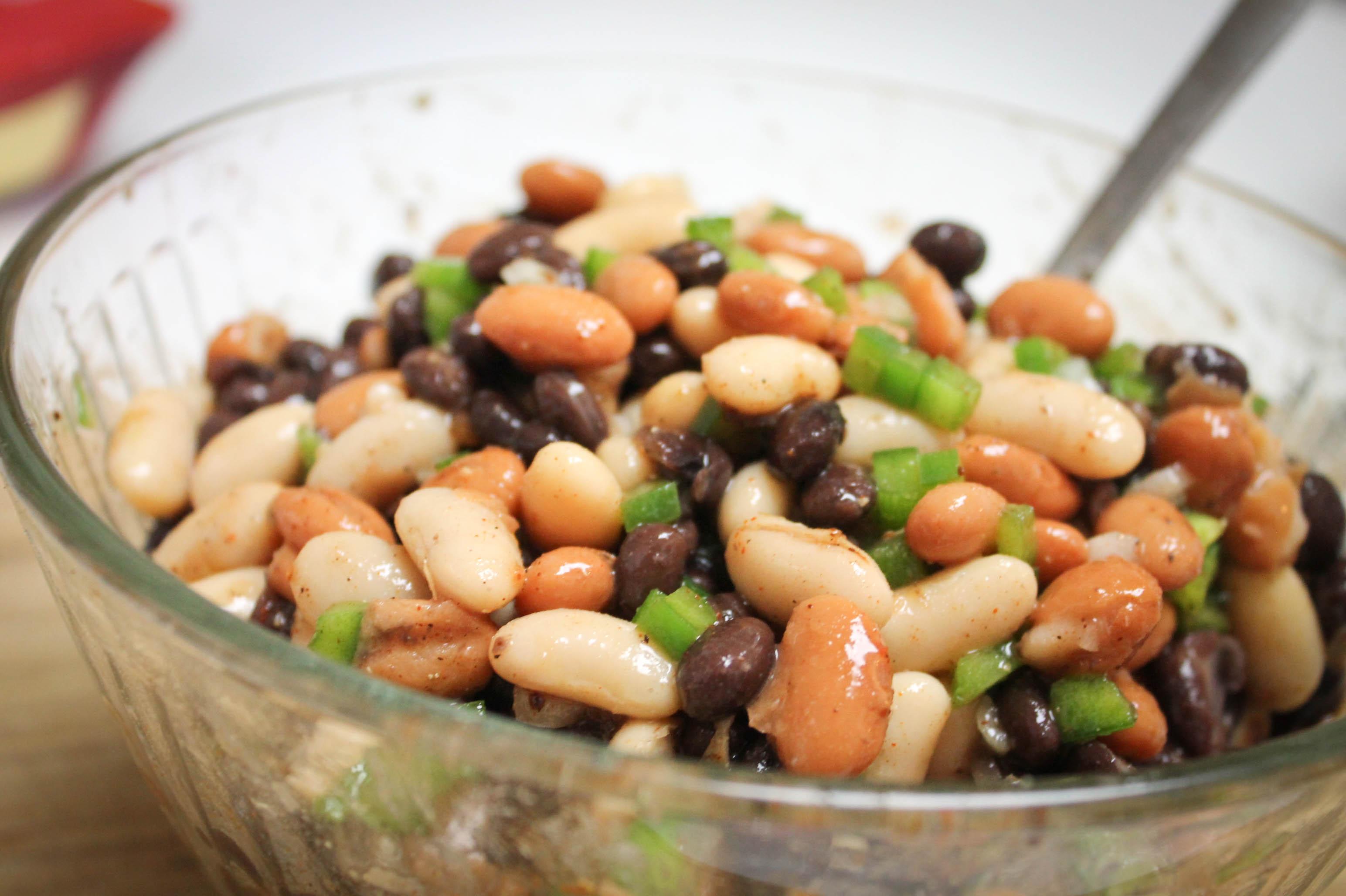 Three Bean Salad & Three Bean Quesadilla (Round 1 & Round 2)