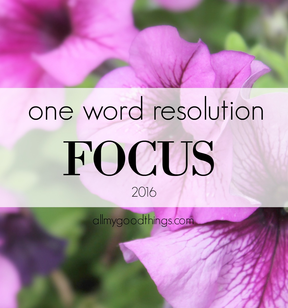 One Word Resolution for 2016