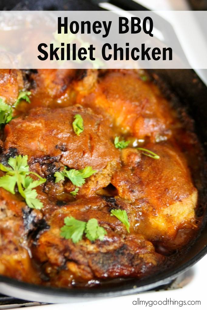 Honey BBQ Skillet Chicken