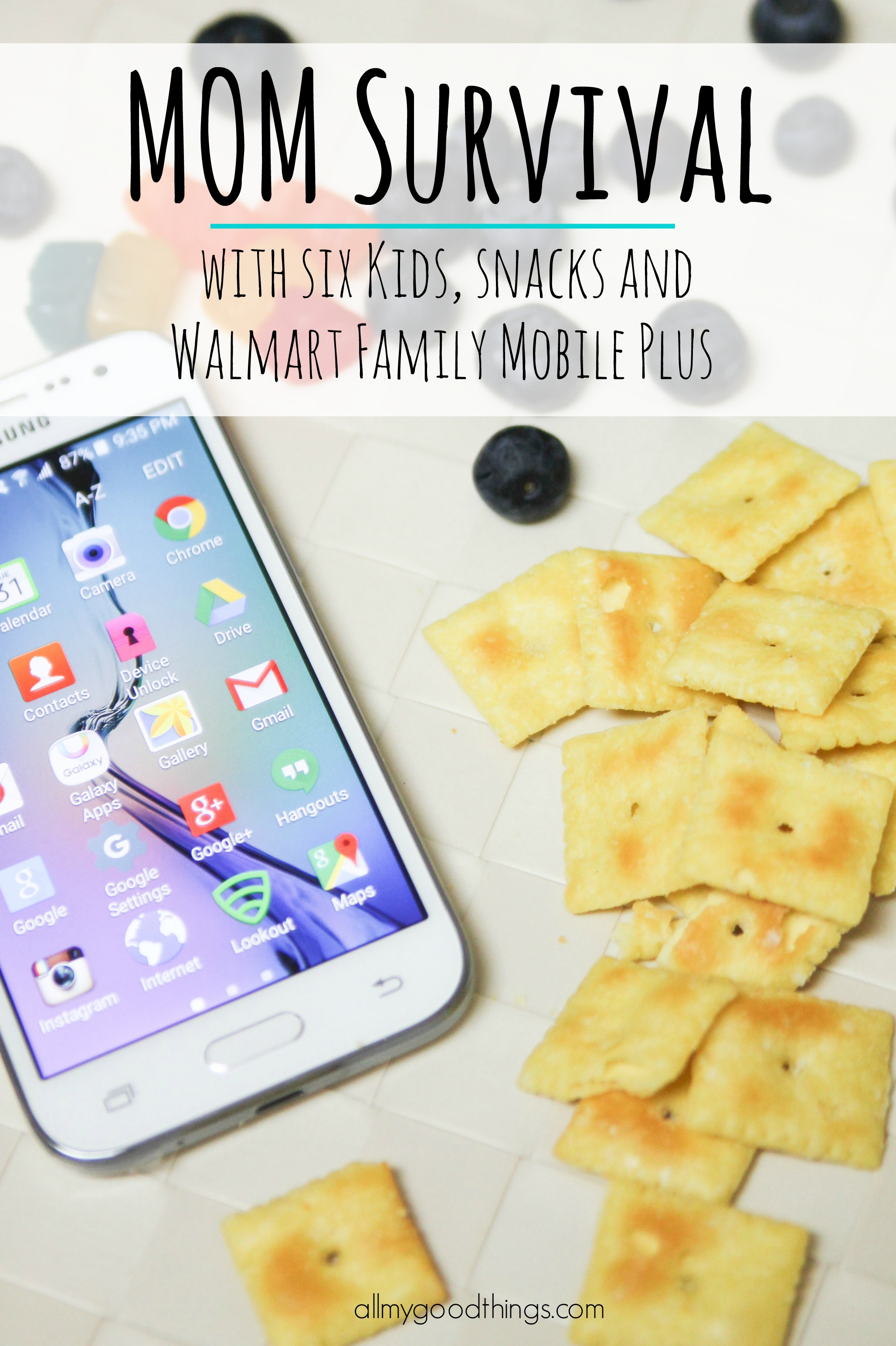 AD Mom Survival with Six Kids, Snacks, & Walmart Family Mobile PLUS