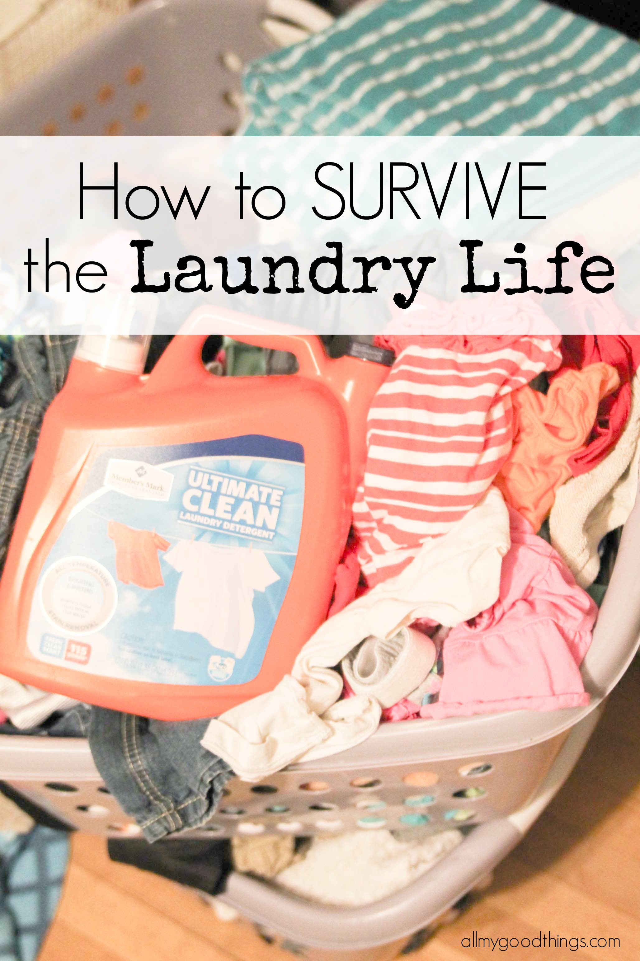 How To Survive The Never Ending Laundry Pile (FREE Laundry