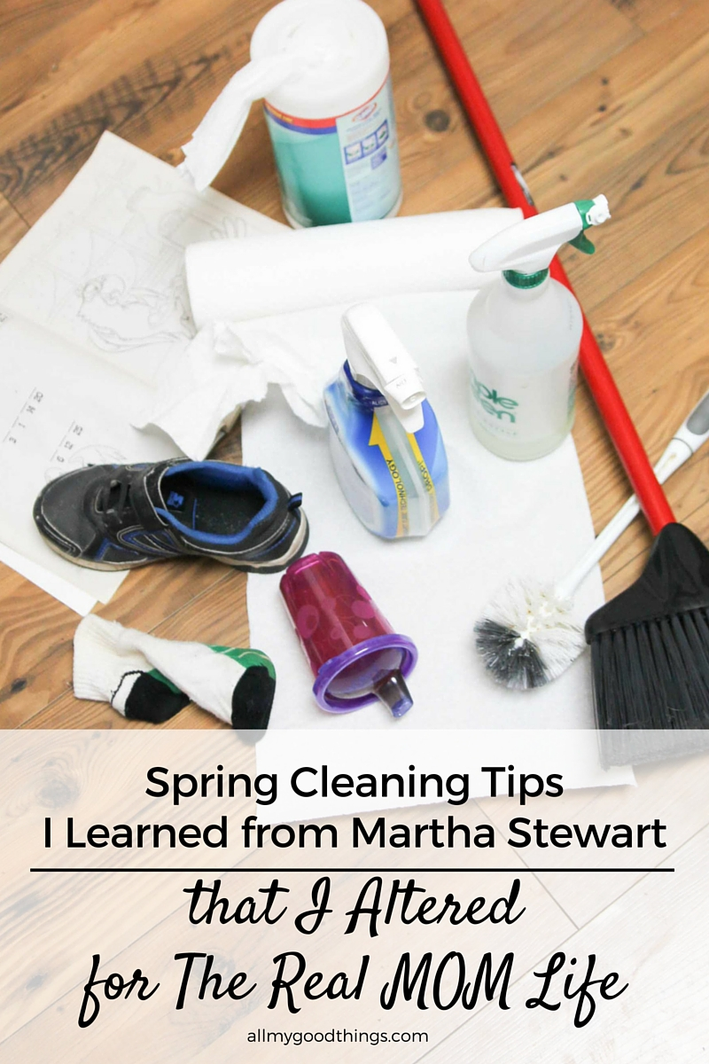 Spring Cleaning Tips I Learned from Martha Stewart that I Altered for the Real Mom Life
