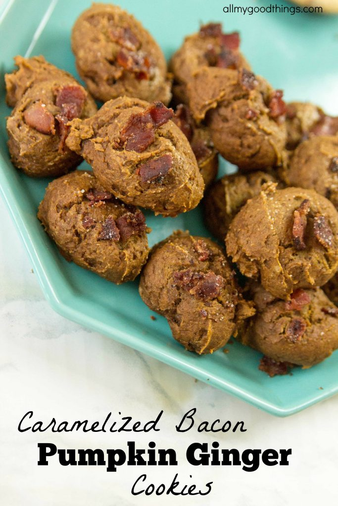 caramelized-bacon-pumpkin-ginger-cookies