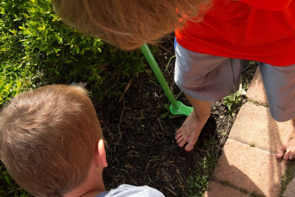 Teach your kids to garden with Weed Zinger -10