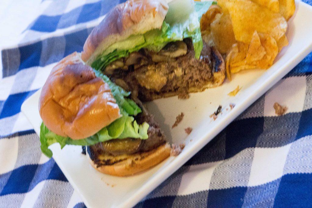 Blue Cheese & Mushroom Venison Burgers-5