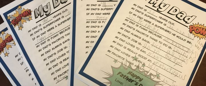 """""""My Dad Is…"""" The Ultimate Super Dad Questionnaire for Father's Day"""