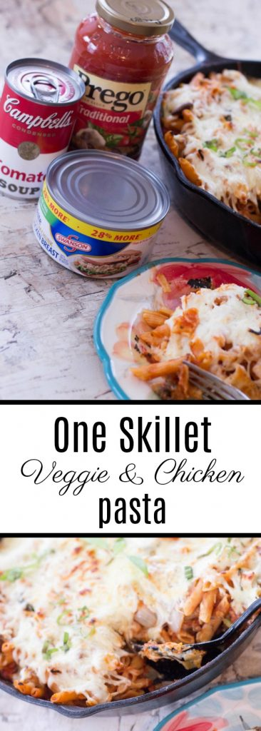 One Skillet Veggie & Chicken Pasta-2