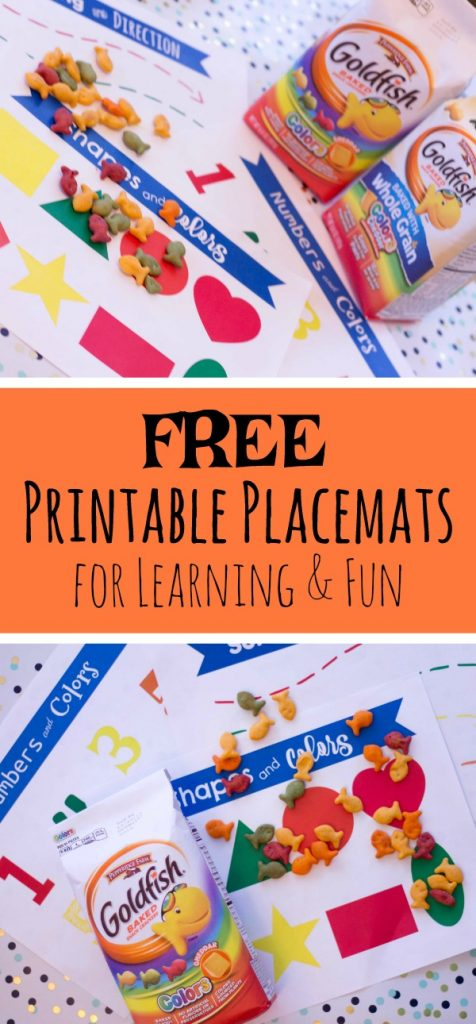 Printable Snack Time Placemats