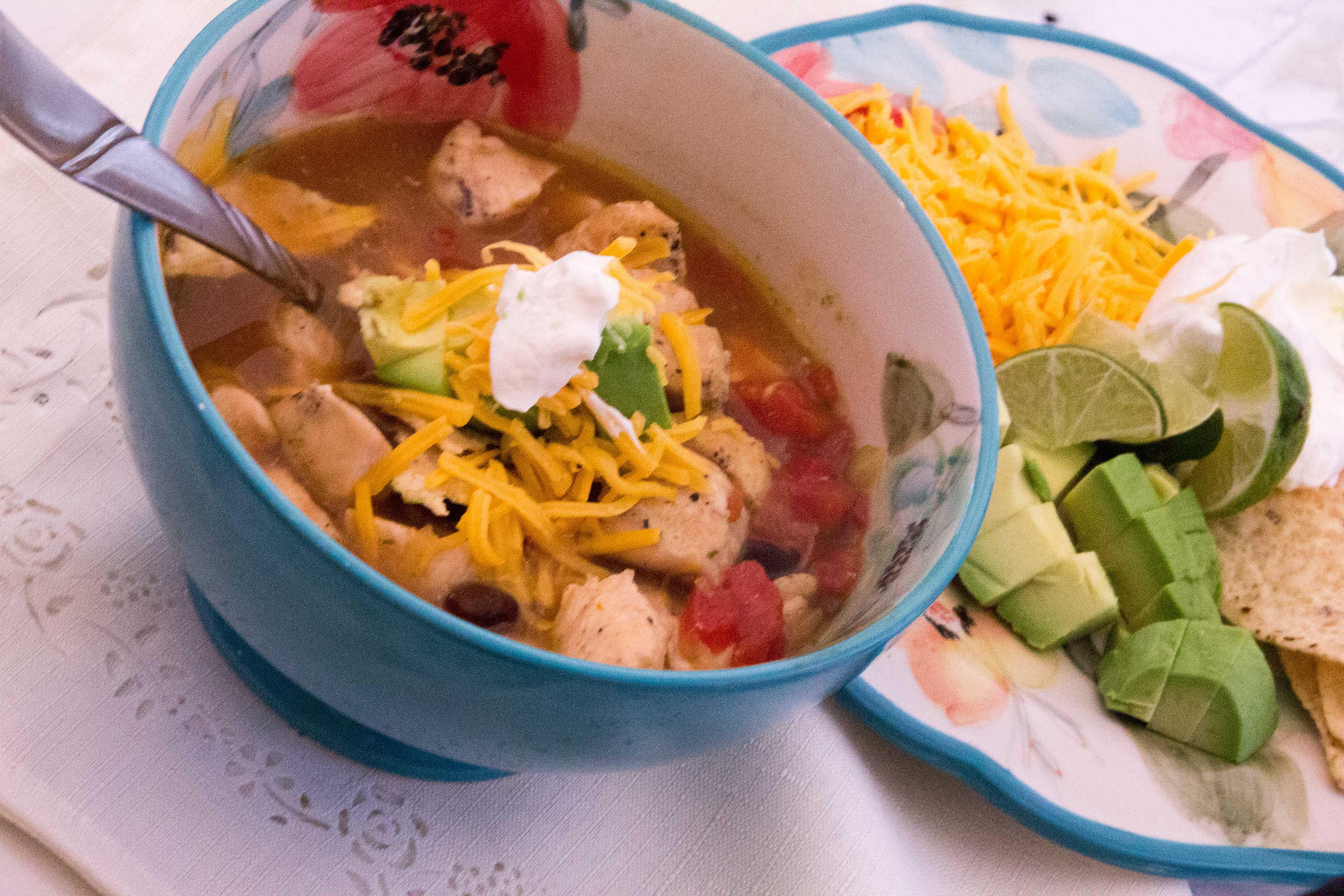 20 Minute  Chicken Tortilla Soup