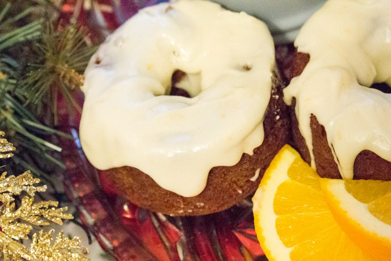 Gingerbread Orange Spice Cake with Maple Cream Cheese Frosting