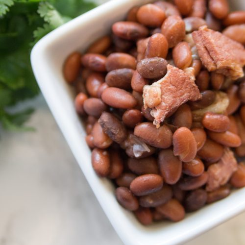 Easy Instant Pot Pinto Beans with Bacon