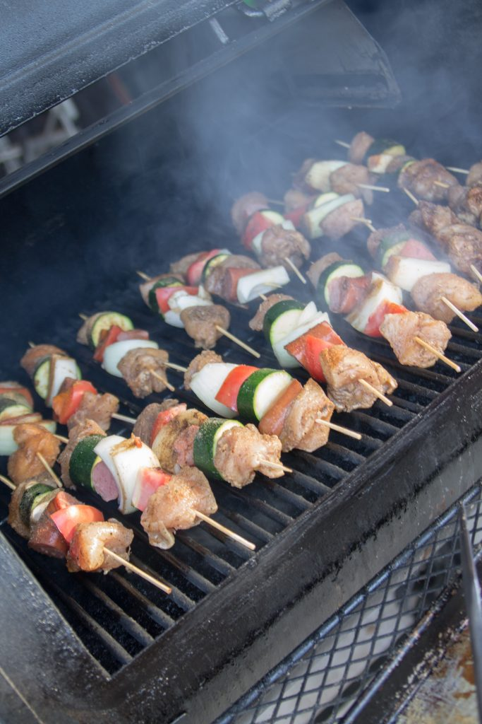 Balsamic Herb Chicken and Sausage Kabobs