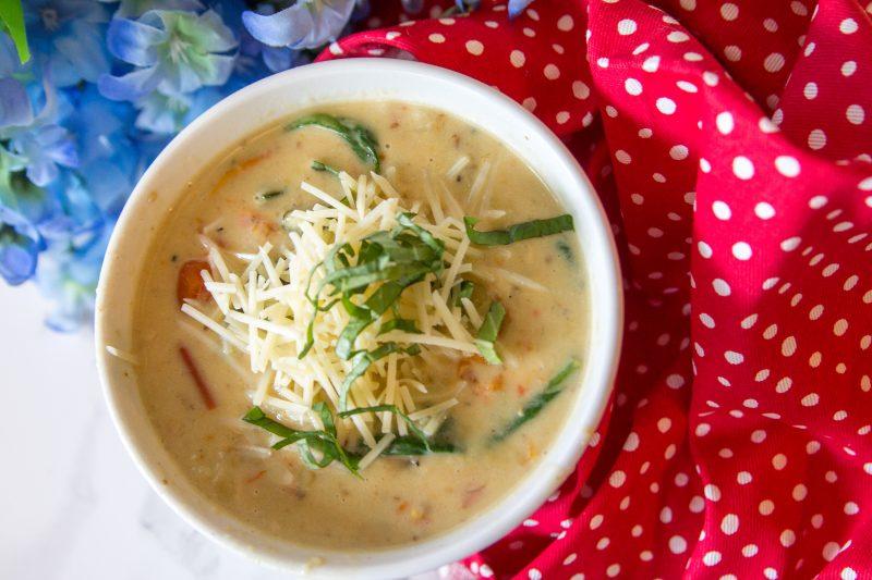 Creamy Parmesan Roasted Veggie Soup