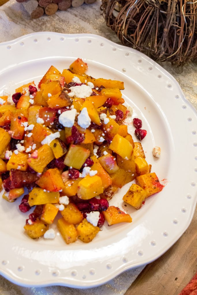 Honey Roasted Butternut Squash & Cranberries