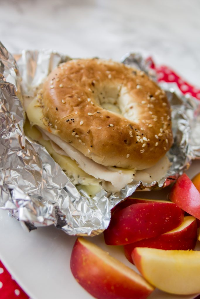 Bagel Turkey Melt - Bagel Sandwich