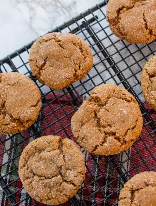 Bourbon Molasses Ginger Cookies