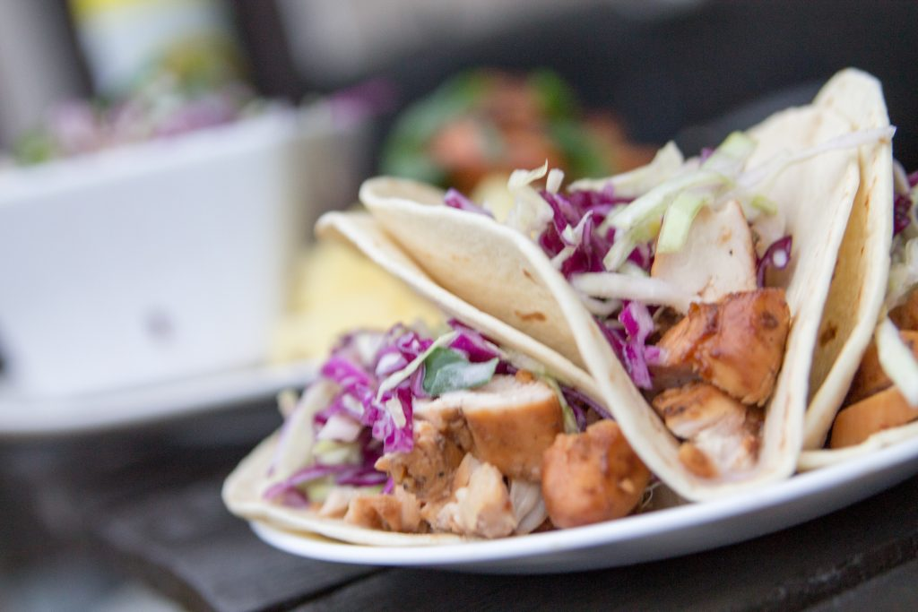 Hawaiian BBQ Street Tacos with Pineapple Ginger Slaw