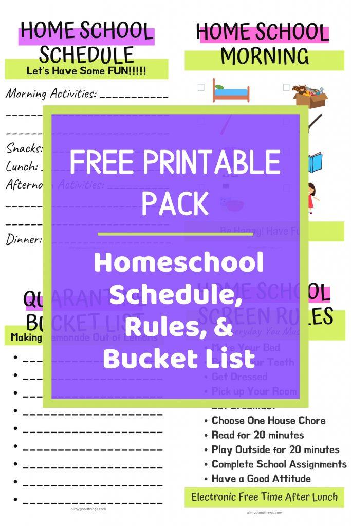 Homeschool Schedule Printable Pack