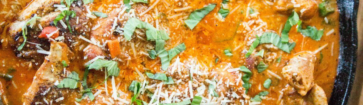 Tomato Basil Skillet Chicken